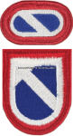 US ARMY 1 SUPPORT COMMAND FLASH AND OVAL