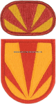US ARMY 4 AIR DEFENSE ARTILLERY 3 BATTALION FLASH AND OVAL