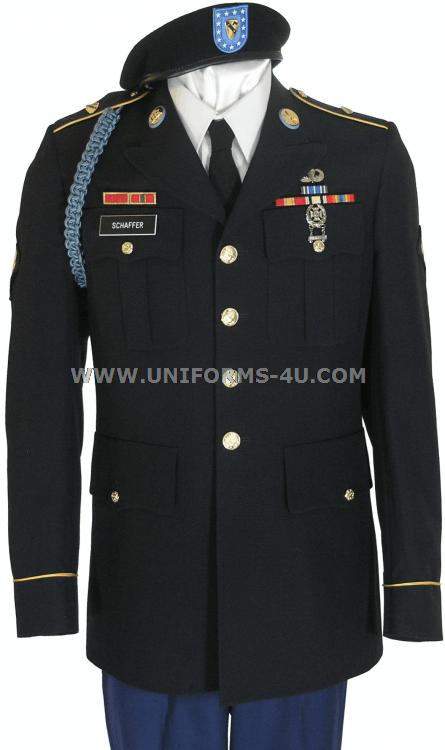 Dress blues army long sleeve shirt setup