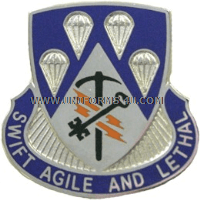 U.S. ARMY SPECIAL TROOPS BATTALION, 4TH BCT, 82ND AIRBORNE UNIT CREST