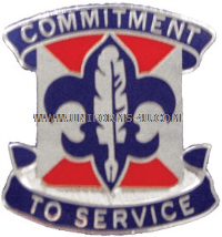 US ARMY 4 PERSONNEL SERVICES BATTALION UNIT CREST