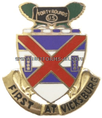 US ARMY 13 INFANTRY REGIMENT UNIT CREST