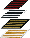 COAST GUARD SERVICE STRIPES (SET OF 5)