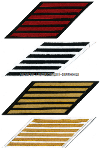 COAST GUARD SERVICE STRIPES (SET OF 6)