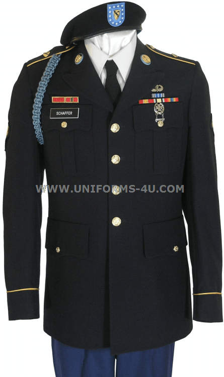 Army Dress Blue Uniform Enlisted - Heavy Black Woman Porno