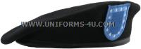 U.S. ARMY BLACK BERET WITH FLASH