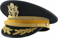 U.S. ARMY SERVICE CAP FOR FIELD GRADE ARMOR / CAVALRY BRANCH OFFICERS