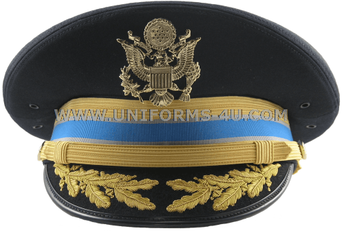US ARMY ASU MILITARY INTELLIGENCE DRESS BLUE FG BULLION CAP