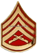 marine corps tie tac  staff sergeant gold and red