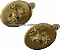 MARINE CORPS NCO CUFF LINKS ANODIZED