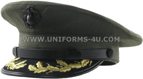 usmc field grade service cap