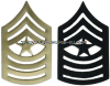 USMC SERGEANT MAJOR METAL CHEVRONS