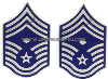 USAF CHIEF MASTER SERGEANT WITH DIAMOND METAL CHEVRONS