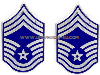 USAF CHIEF MASTER SERGEANT METAL CHEVRONS