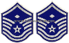 AIR FORCE CHEVRON METAL MASTER SERGEANT WITH DIAMOND