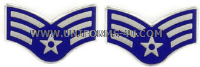 USAF SENIOR AIRMAN METAL CHEVRONS