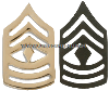 U.S. ARMY PIN-ON METAL FIRST SERGEANT CHEVRONS