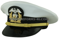 us merchant marine Officer white hat