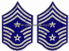 AIR FORCE CHEVRON METAL COMMAND CHIEF MASTER SERGEANT