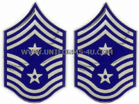 USAF COMMAND CHIEF MASTER SERGEANT METAL CHEVRONS