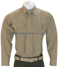 usmc long sleeve service khaki shirt
