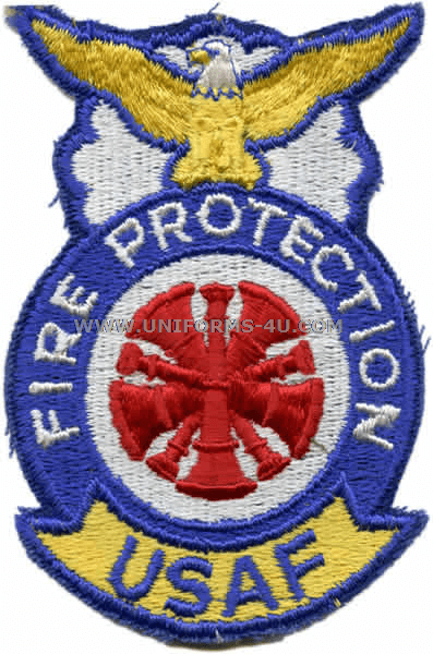 AIR FORCE FIRE PROTECTION CHIEF FULL COLOR PATCH