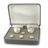 U.S. MILITARY MOTHER OF PEARL CUFF LINKS AND STUDS