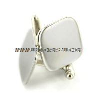 U.S. MILIARY MIRRORED SILVER CUFF LINKS