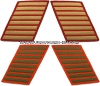 marine corps service stripes gold embroidered on red set of 8