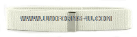US COAST GUARD AUXILIARY WHITE BELT WITH SATIN SILVER TIP