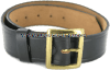 US navy heavy duty leather belt with brass buckle