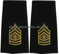 U.S. ARMY SERGEANT MAJOR OF THE ARMY SHOULDER MARKS