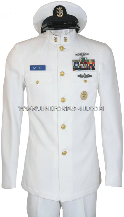 Fully customizable summer dress white uniform for Chief Petty Officers ...