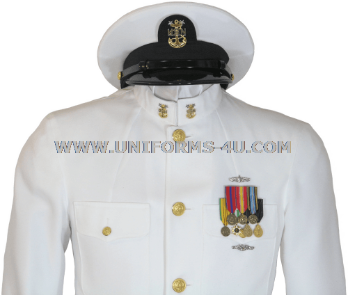 us navy service dress white sdw cpo uniform