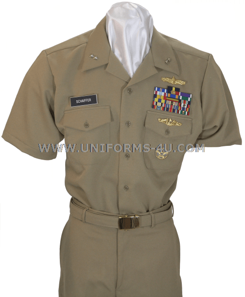 US NAVY OFFICER KHAKI UNIFORM