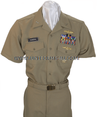 us navy officer summer khaki  uniform