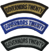 U.S. ARMY GOVERNOR'S TWENTY TAB PATCH