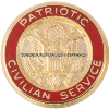 patriotic civilian service lapel pin