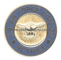 United states airforce civilian retired lapel pin publicscrutiny Choice Image