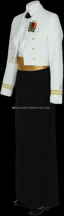us navy female officer dinner dress white uniform