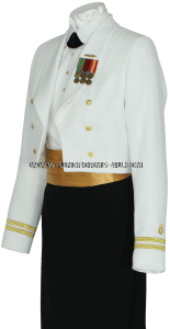 US NAVY FEMALE OFFICER DINNER DRESS WHITE UNIFORM