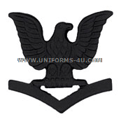 us navy AND MARINE CORPS petty officer 3rd class collar device black metal