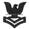 US NAVY AND MARINE CORPS PETTY OFFICER 2ND CLASS COLLAR DEVICE BLACK METAL