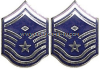 USAF SENIOR MASTER SERGEANT WITH DIAMOND METAL CHEVRONS