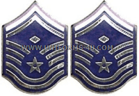air force chevron metal senior master sergeant with diamond