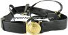 coast guard vinyl sword belt with gold buckle