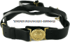 coast guard leather sword belt with gold buckle