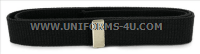 US COAST GUARD AUXILIARY BLACK BELT WITH SATIN SILVER TIP