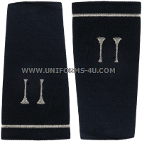 usaf shoulder marks blue with two parellel bugles