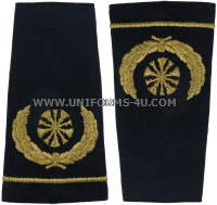 usaf shoulder marks blue with five bugles chief